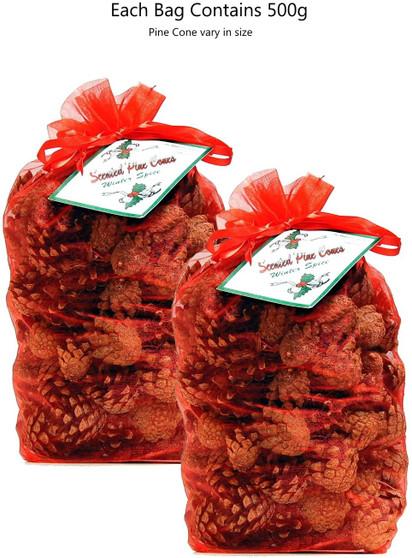 Scented Pine Cones- Winter Spice