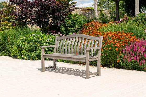Alexander Rose Grey Painted Turnberry Bench (322G)