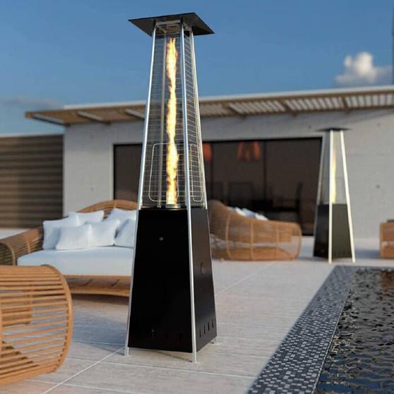 13kW Gas Flame Towerin Black