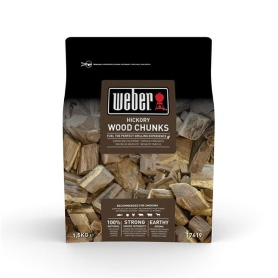 Weber® Hickory Wood Chunks - 1.5kg