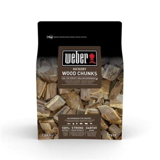 Weber® Hickory Wood Chunks - 1.5kg