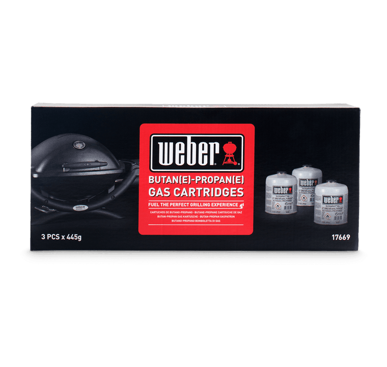Weber Disposable Gas Canister - 3 Pack (17669) (CAN'T BE SENT WITH COURIER)