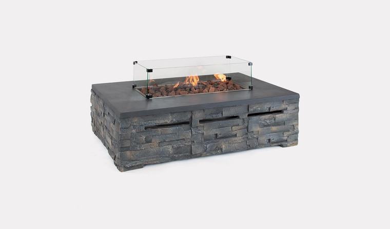 Kalos Stone Fire Pit Coffee Table
