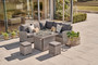 Kettler Palma Mini Corner White Wash with Fire Pit Table