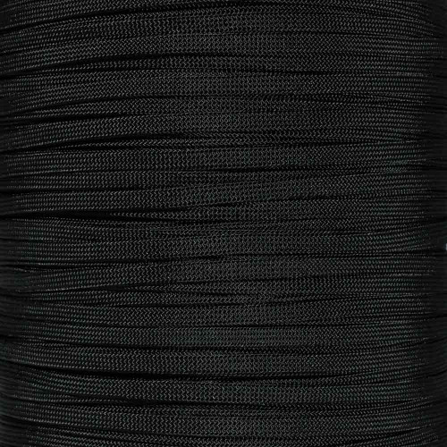 Black 650 Coreless Paracord - 100 Feet