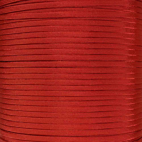 Imperial Red 650 Coreless Paracord - 100 Feet