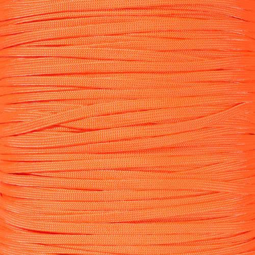 Neon Orange 650 Coreless Paracord - 100 Feet