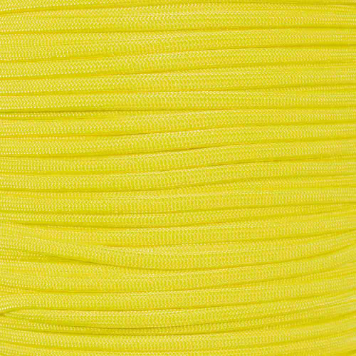 Neon Yellow 850 Paracord - 100 ft