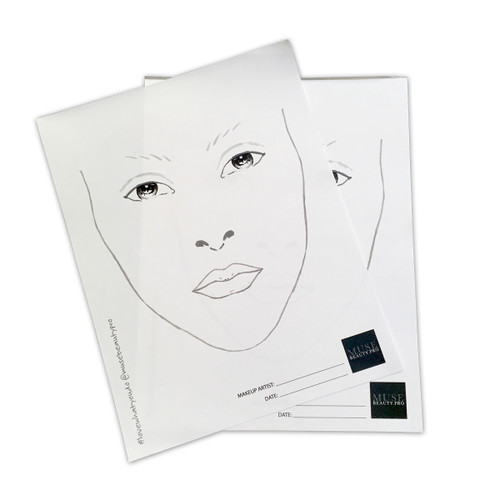 Muse Pro Face Chart Pad - 50 Sheets