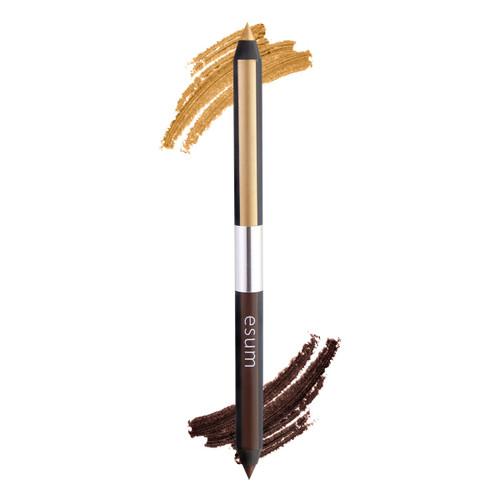Esum Dual Eye Pencil - Brown/Gold
