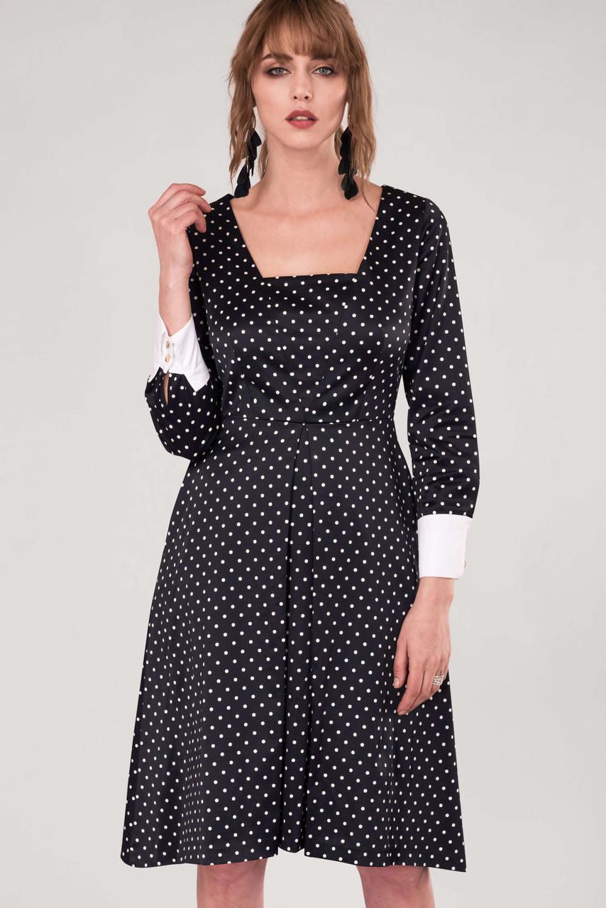 wide varieties quality free shipping CLOSET GOLD Black Polka Dot Pleated Midi Skirt Dress