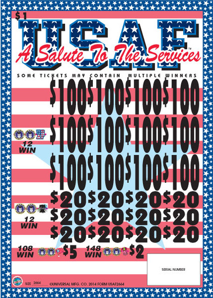 A Salute to the Air Force 3W $1 12@$100 $2B 14% 2664
