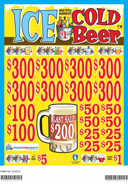 Ice Cold Beer 3W $1 8@$300 $1B 19% 5200 LS