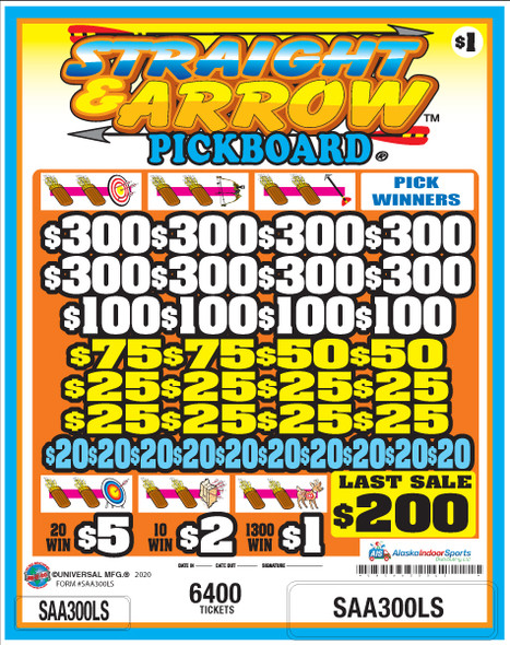 Straight and Arrow PK 3W $1 8@$300 $1B 20% 6400 LS