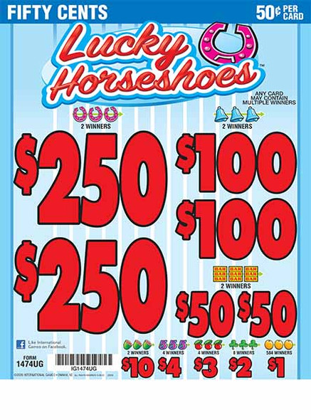 Lucky Horseshoes 5W $0.50 2@$250 $1B 27% 3960