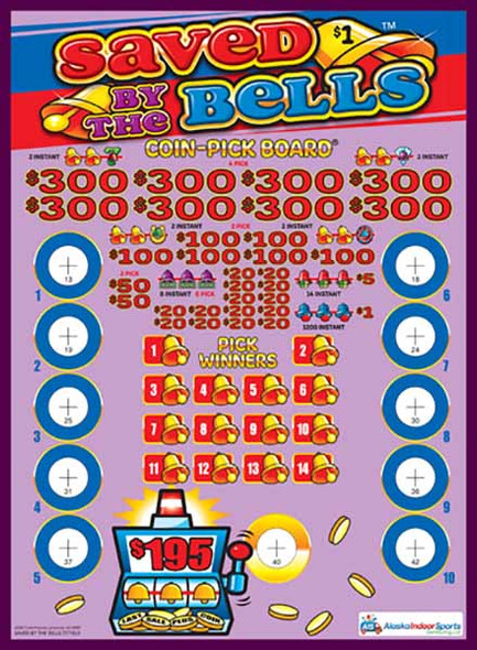 Saved by the Bells Coin-Pick Board 5W $1 8@$300 $1B 25% 6480 LS