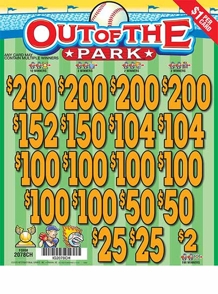 Out of the Park 3W $1 17@$100 (4@$200) $2B 21% 3136