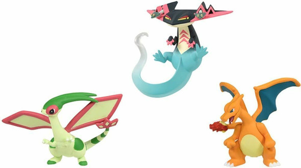 MONCOLLE TACHIMUKAE! MUGEN BATTLE SET (Dragapult, Charizard & Flygon) ~ Pokemon Figure