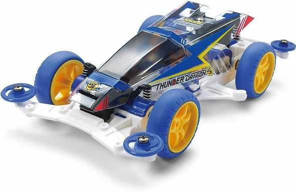 Thunder Dragon Clear Special (Polycarbonate Body) VS Chassis - Tamiya Mini 4WD