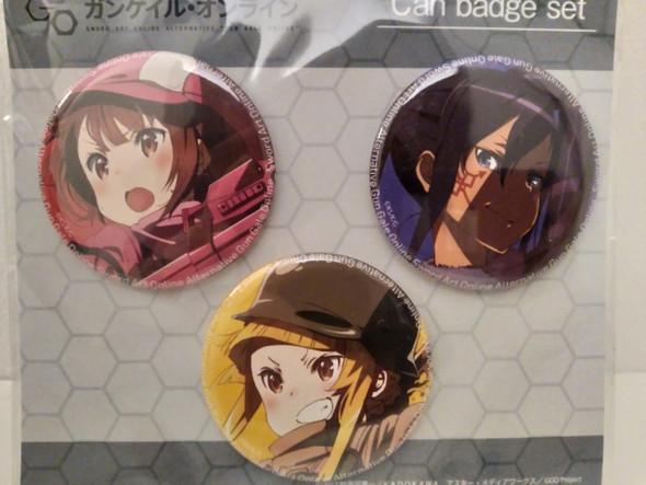 Sword Art Online Alternative Gun Gale Online ~ Can Badge Set