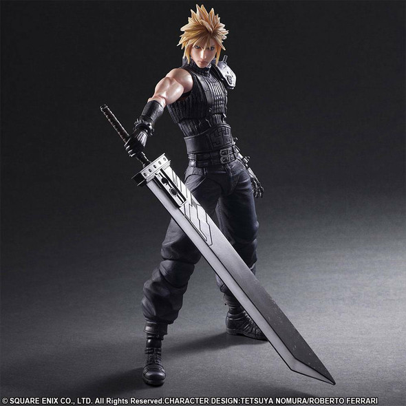 Final Fantasy VII Remake Play Arts Kai Action Figure No. 1 Cloud Strife 28 cm