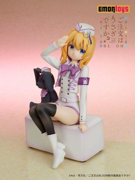PREORDER Is the Order a Rabbit PVC Statue ~ Cocoa Military uniform Ver.