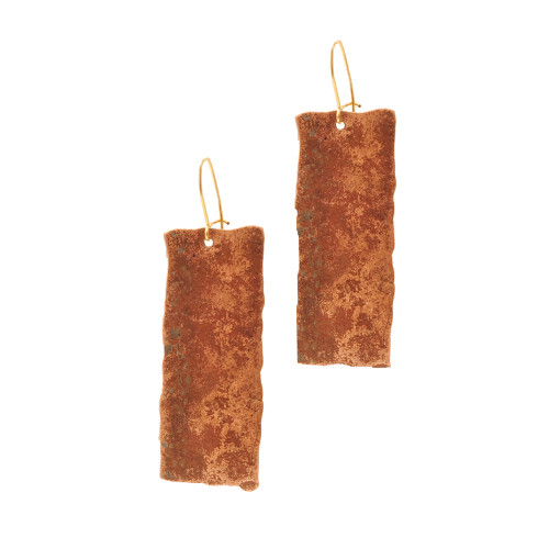 JessicaFoundIt  upcycled copper rectangle earrings