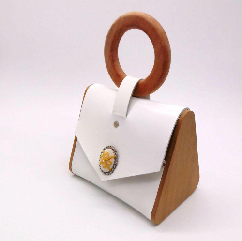 'MC+ by Andreas Vallianatos' Nira wood & leather tote