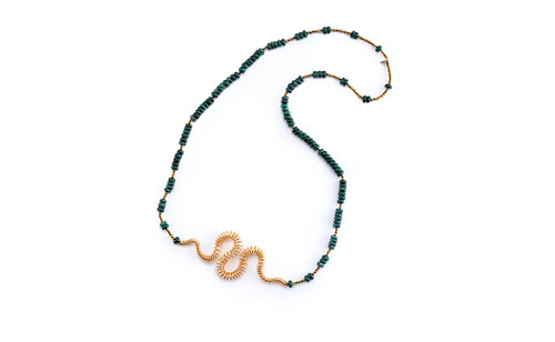 'Evangelos Kyriakos' malachite necklace