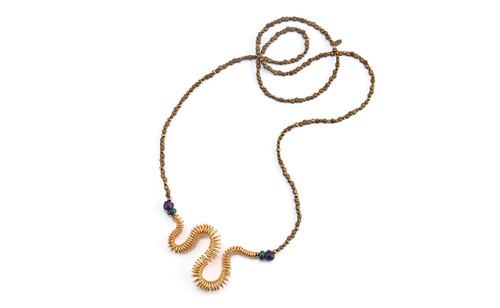 'Evangelos Kyriakos' gold plated hematite necklace