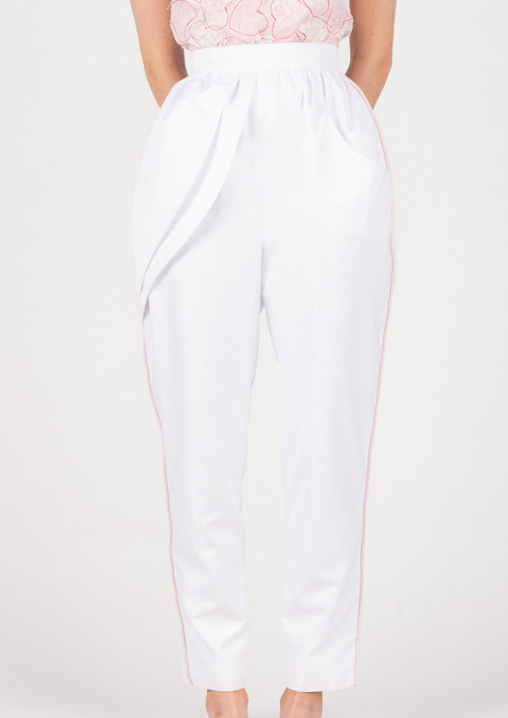 'MenVi' Iliana White Cotton Trousers