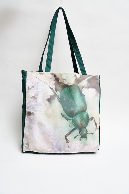 """It's in the Bug"" Upcycled Tote Bag for the Environmental Law Foundation"