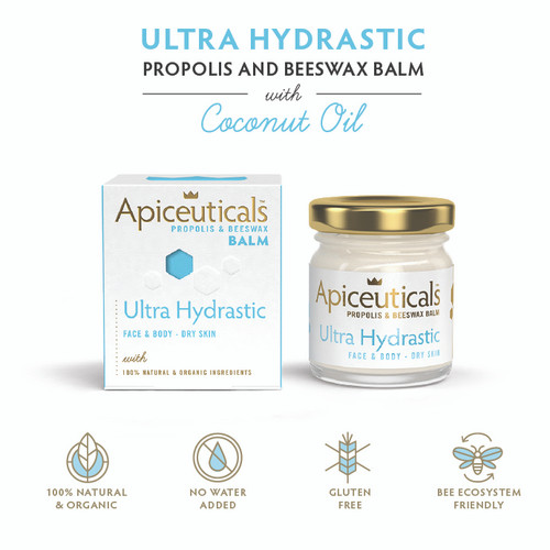 'Apiceuticals' Ultra Hydrastic Propolis & Beeswax Balm with Coconut Oil