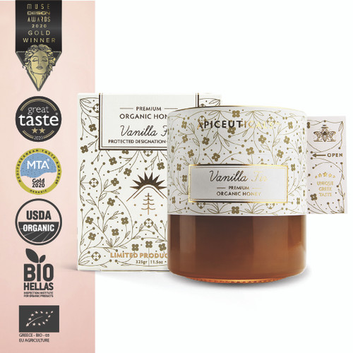 'Apiceuticals' Vanilla Fir Premium Organic PDO Honey