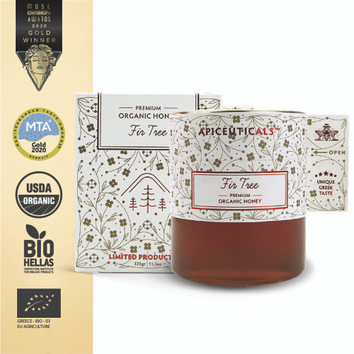 'Apiceuticals' Fir Tree Premium Organic Honey
