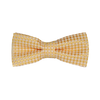 Diamond Print Silk Bowties - Yellow
