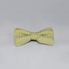Diamond Print Silk Bowties - Olive Green