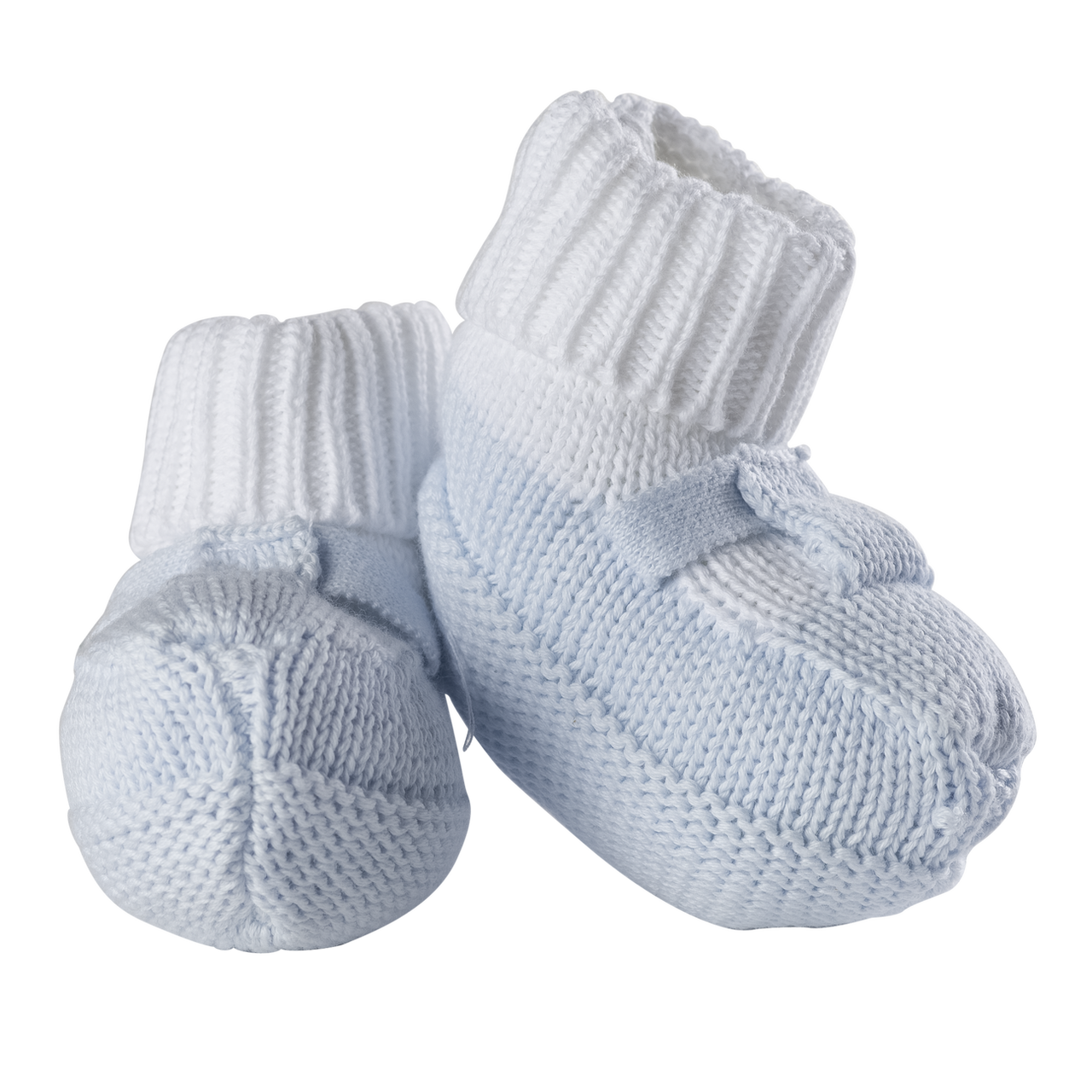 cd65a4a11ed4 Feltman Brothers Boys Blue Knit Mocked Booties - Adi Treasures