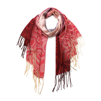 Ombre Bubble Patterned Pashmina Scarf