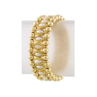 Oval Stone Lined Bracelet