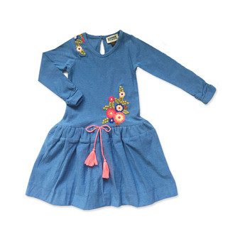 Sophie Catalou Blue Bell Embroidery Dress