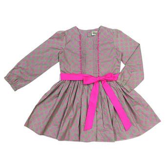 Sophie Catalou Dove Dot Printed Peasant Dress