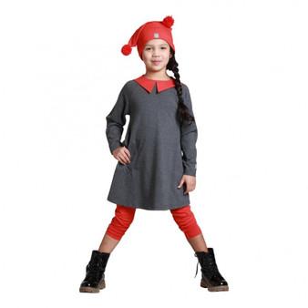 KidCuteTure Tina Dress in Charcoal