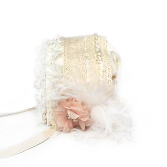 Little Lady Accessories Ivory Baby Bonnet
