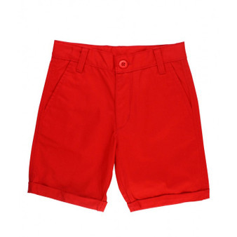 Rugged Butts Red Cuffed Chino Shorts