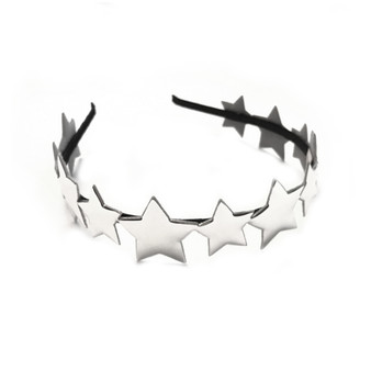 Me Oui Mirror Star Headband In Silver