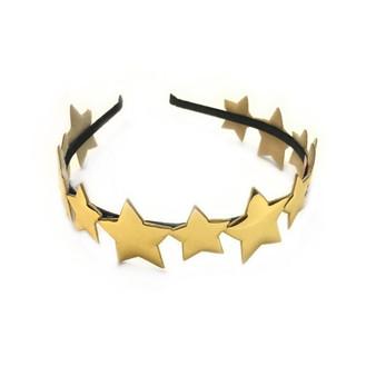 Me Oui Mirror Star Headband In Gold