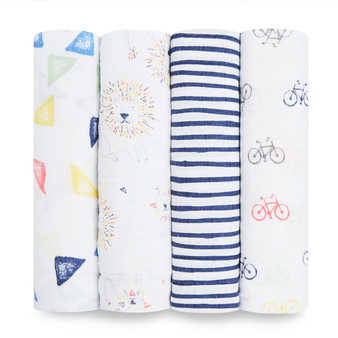 Leader Of The Pack 4 Pack Classic Swaddles