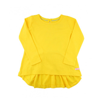 Yellow Long Sleeve Bow-Back Top