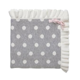 Polkadot With Ruffles Blanket